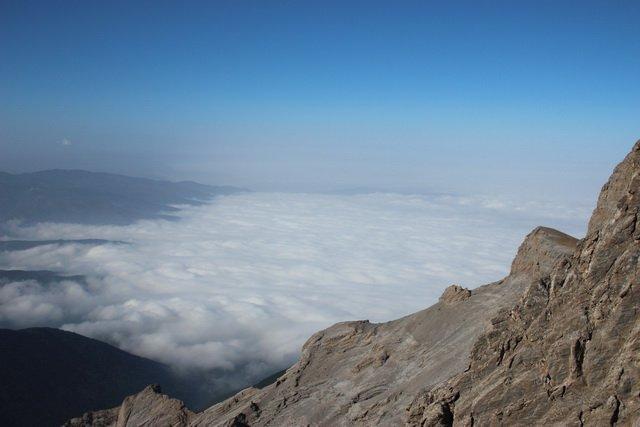облака ниже вершины олимпа