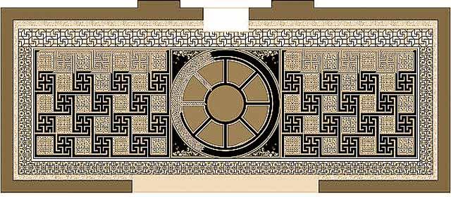 мозаика перед Аркой Галерия