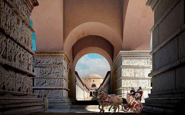 внутри арки галерия, реконструкция, достопримечательности Салоники