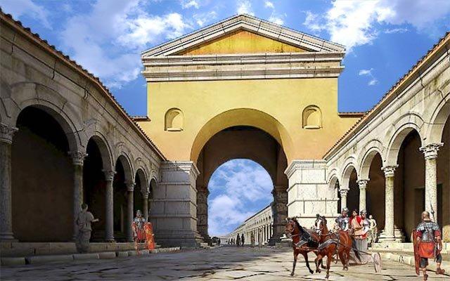 реконструкция арки в римский период