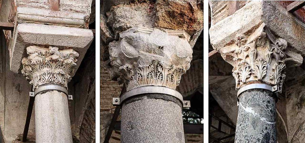 колонны и капители мечети хамза бей, достопримечательности Салоники
