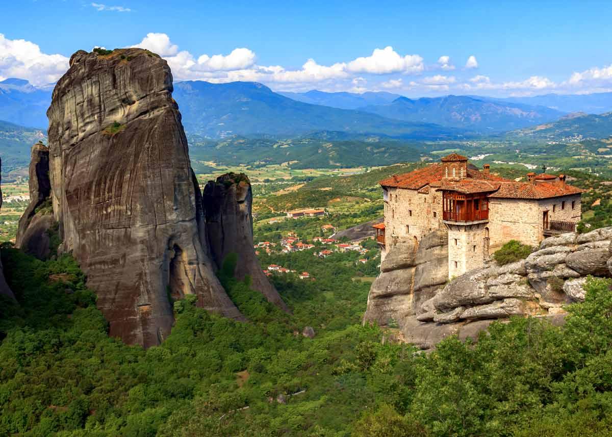 Метеоры Греция, фото монастыря Русану