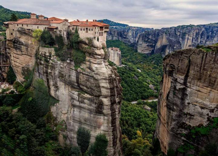 столп Варлаама, монастыри Метеоры, Греция. Фото