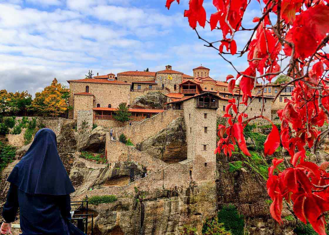 Экскурсия в Метеоры Греция. Монастырь Преображения Господня