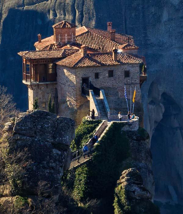 монастырь Русану, Метеоры в Греции, фото