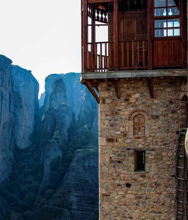 лестница в монастыри Метеоры, Греция
