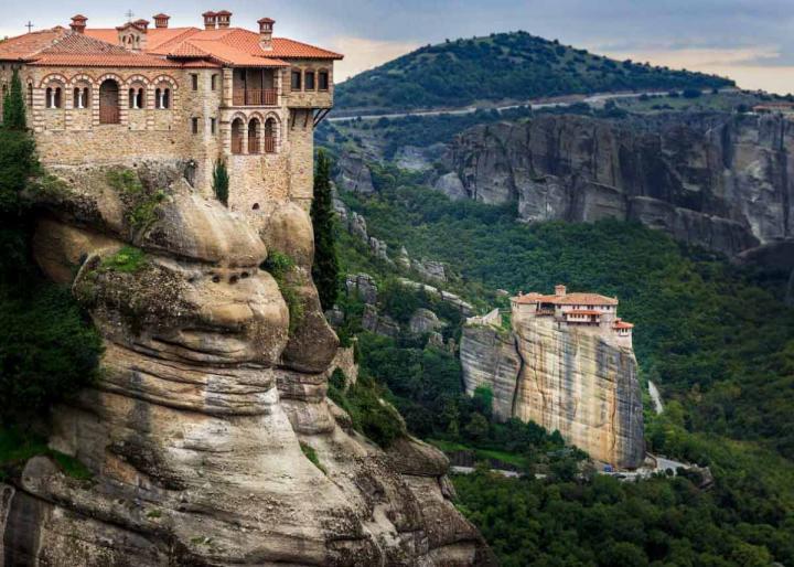 монастыри Метеоры, Греция: Русану и Варлаама