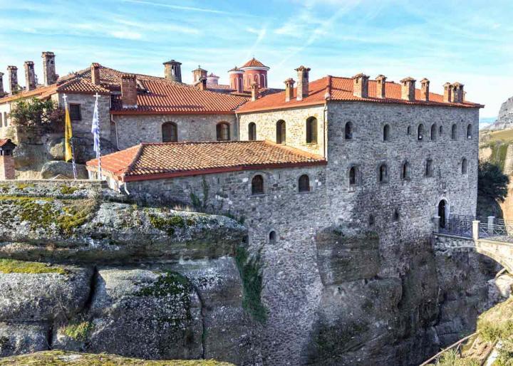 монастырь святого Стефана, Метеоры, Греция, фото
