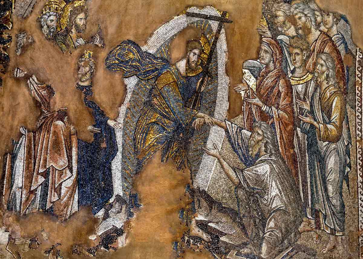 мозаика храма двенадцати апостолов в Салониках