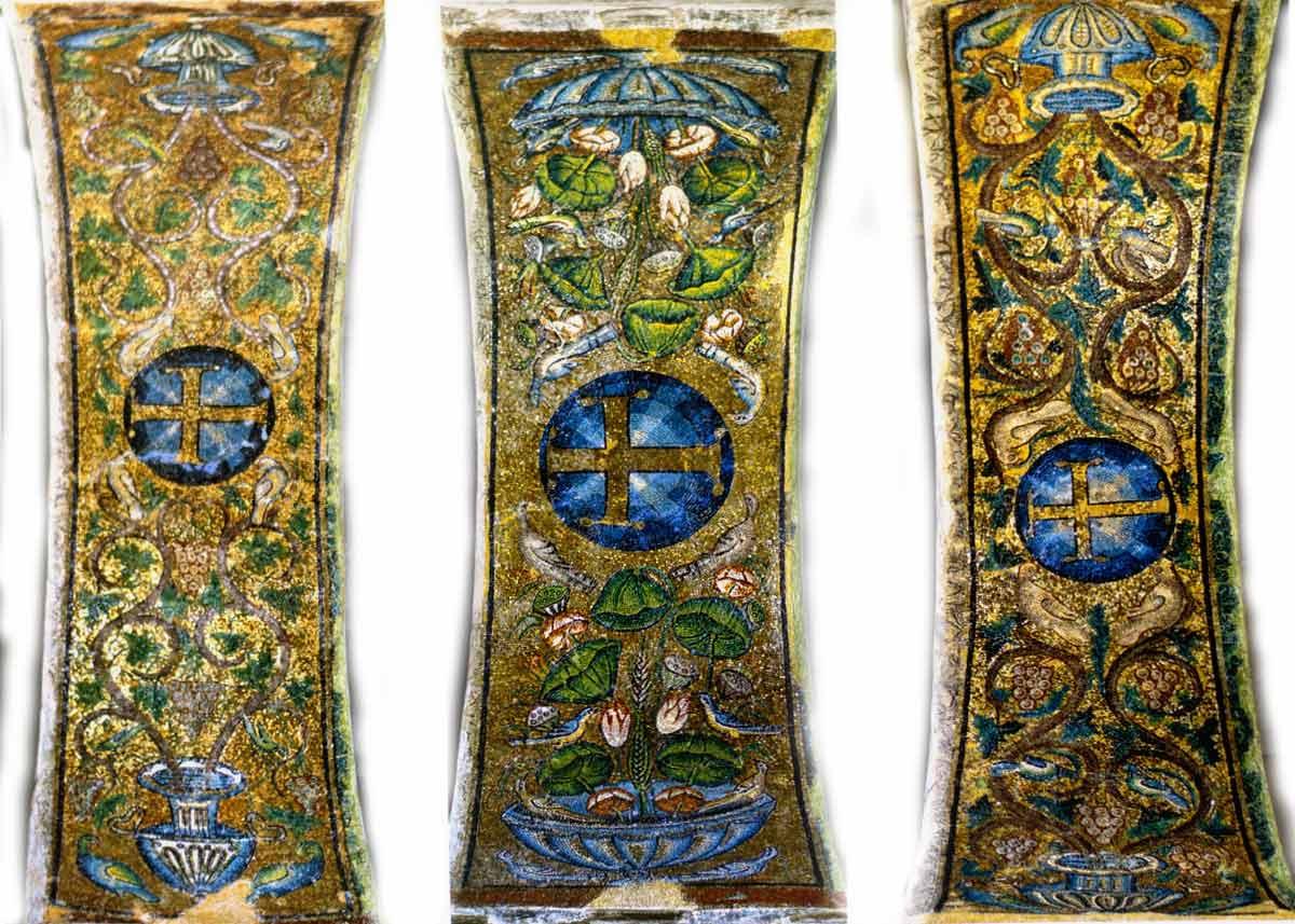Элементы мозаики базилики
