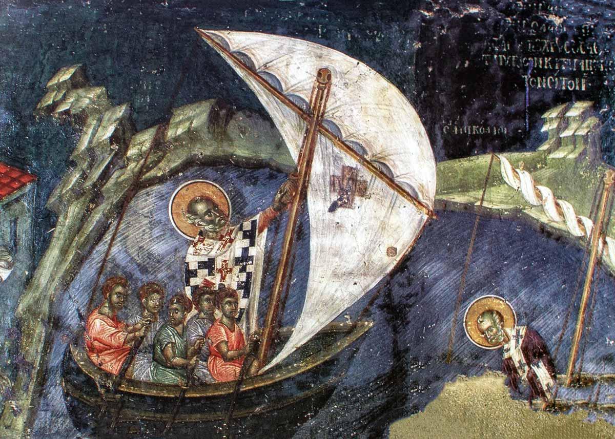 Фрески церкви Святого Николая Офаноса