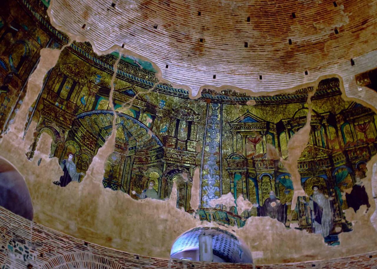 мозаика в куполе Ротонды в Салониках, Греция
