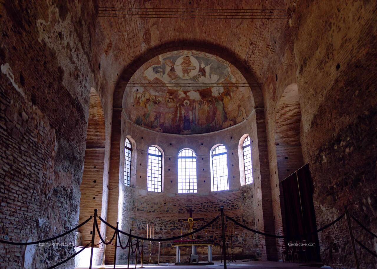 апсида Ротонды, достопримечательности римского периода в городе Салоники, Греция