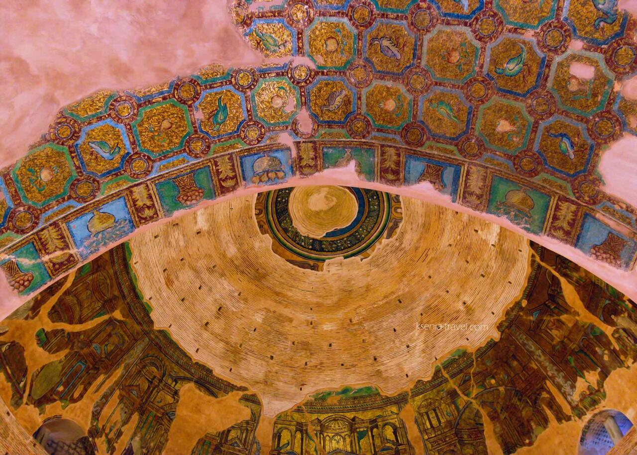 мозаика арки и купола Ротонды в Греции, Салоники