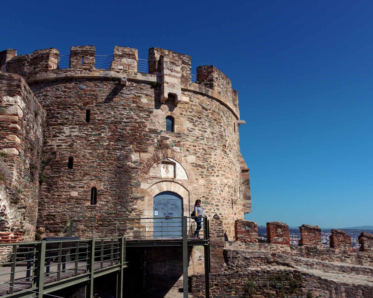 Башня тригониу, крепостные стены Салоники, Греция