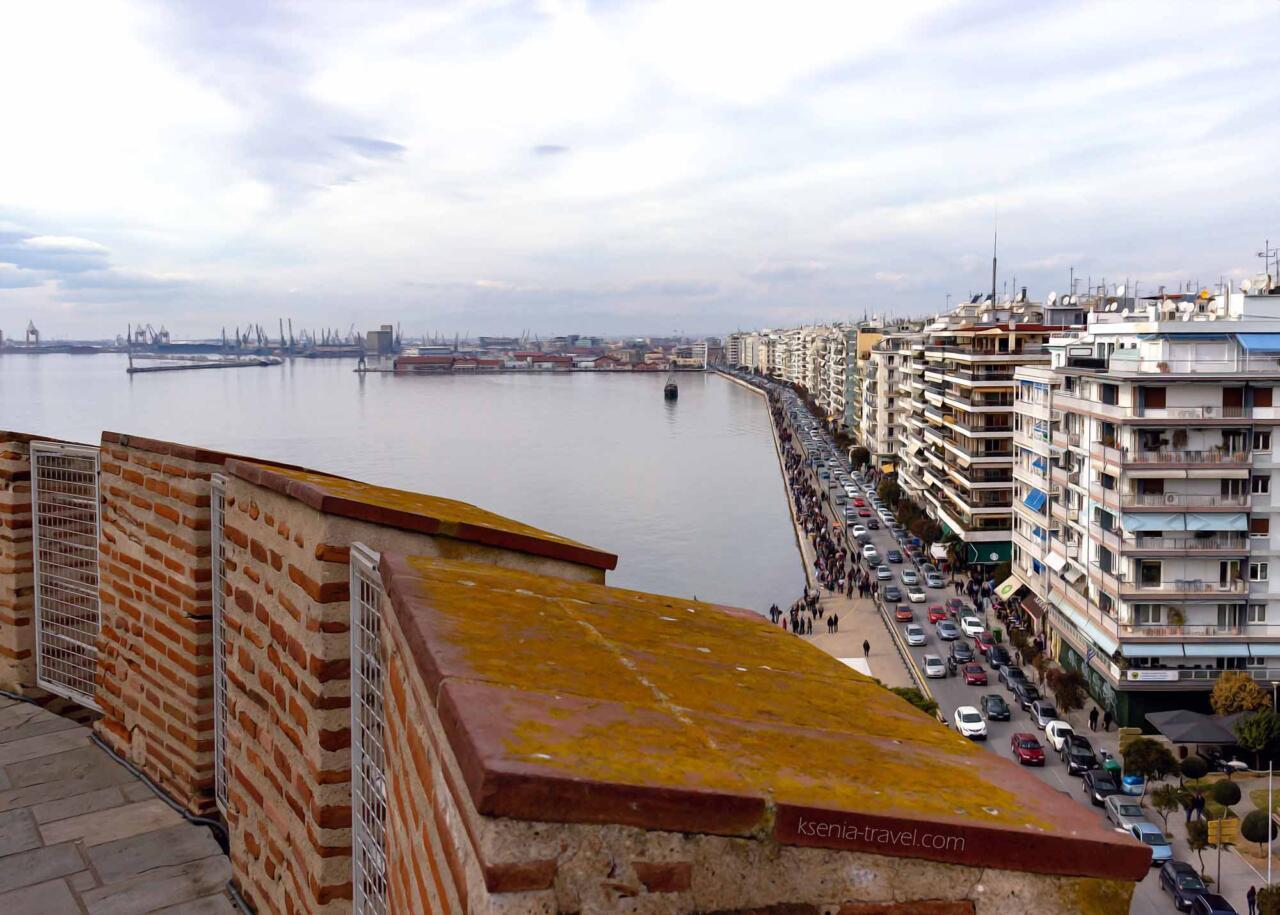 вид с Белой башни в Салониках