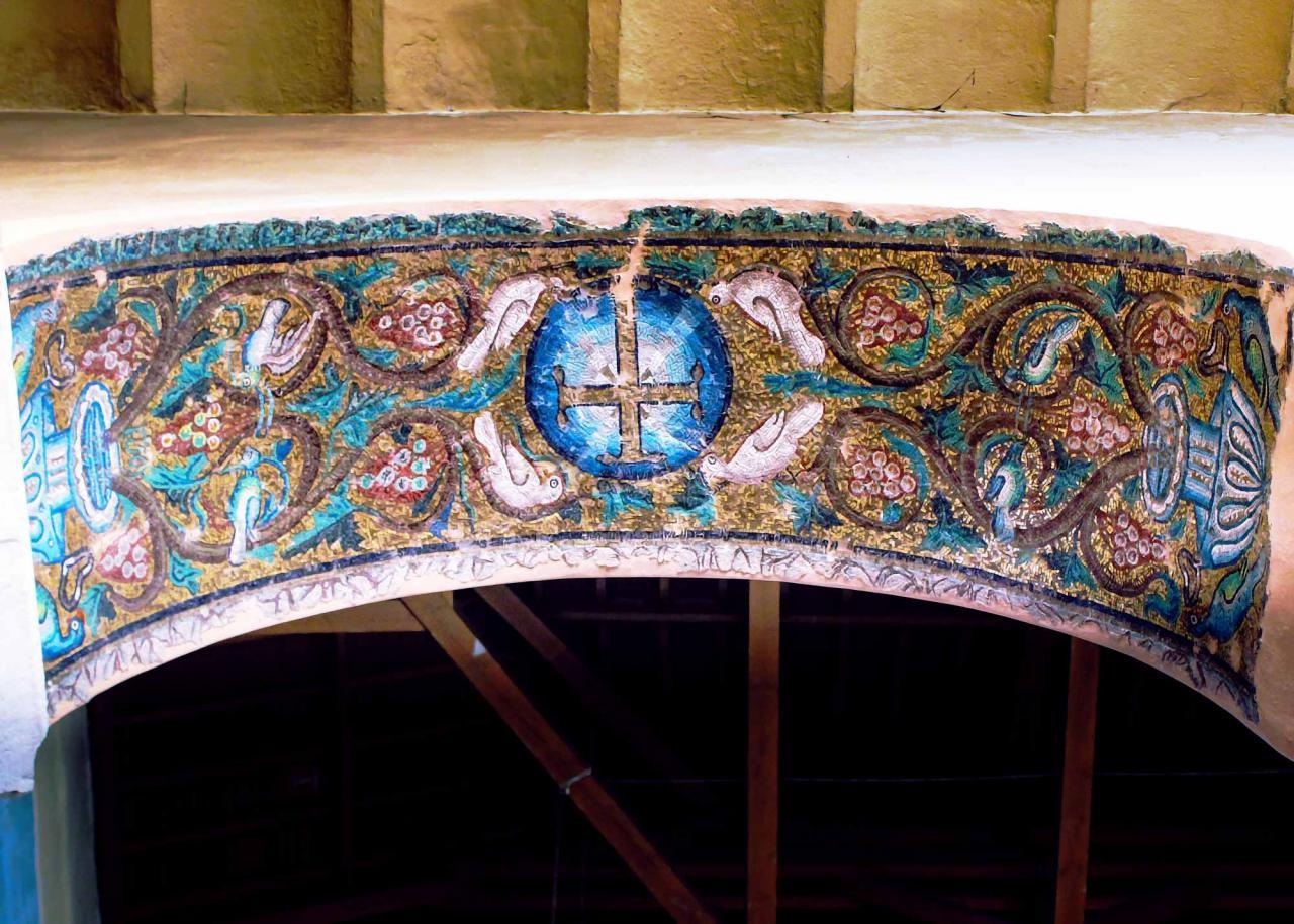 мозаика храма панагия Ахиропиитос