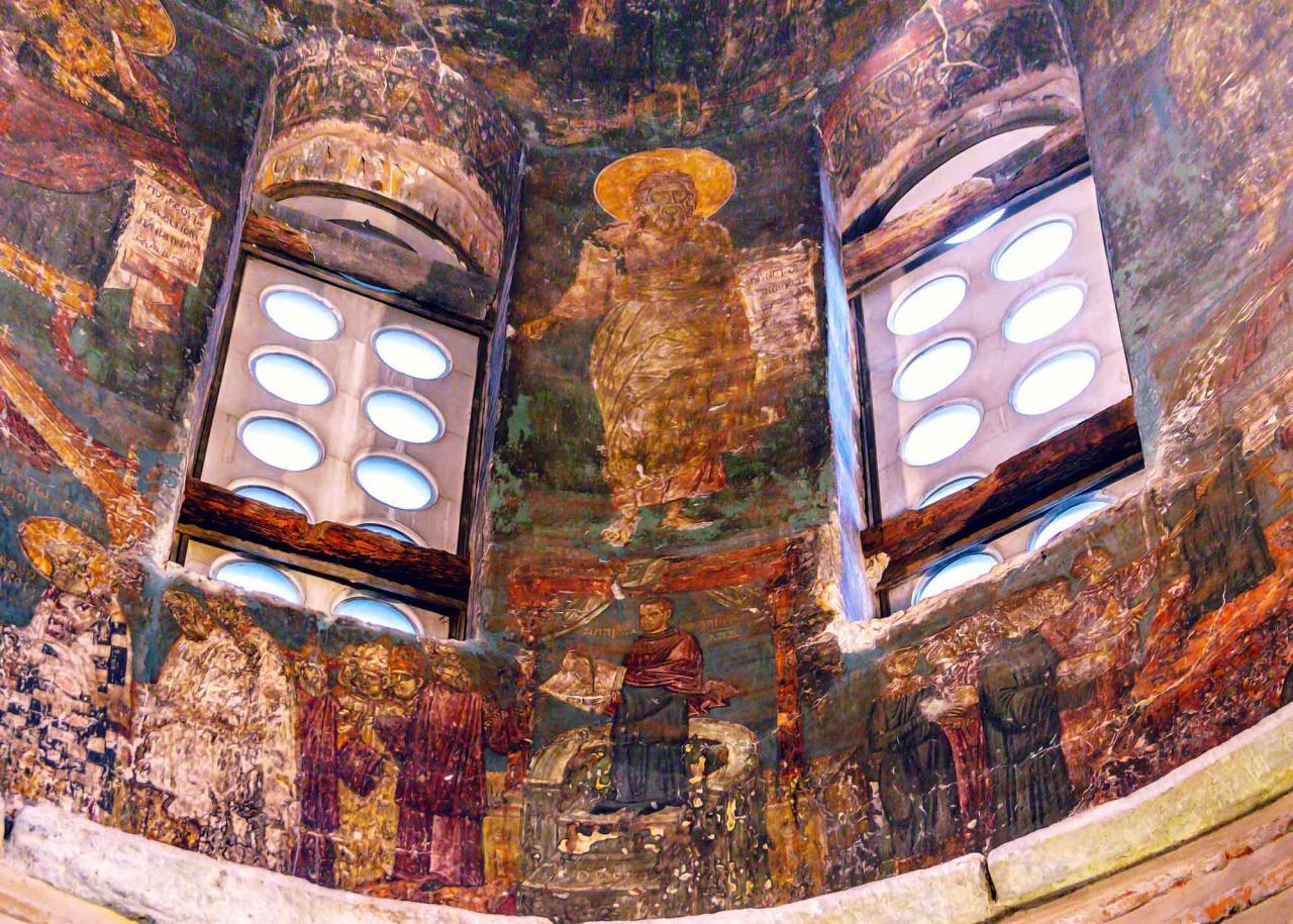 фрески храма Преображения Спасителя, Салоники