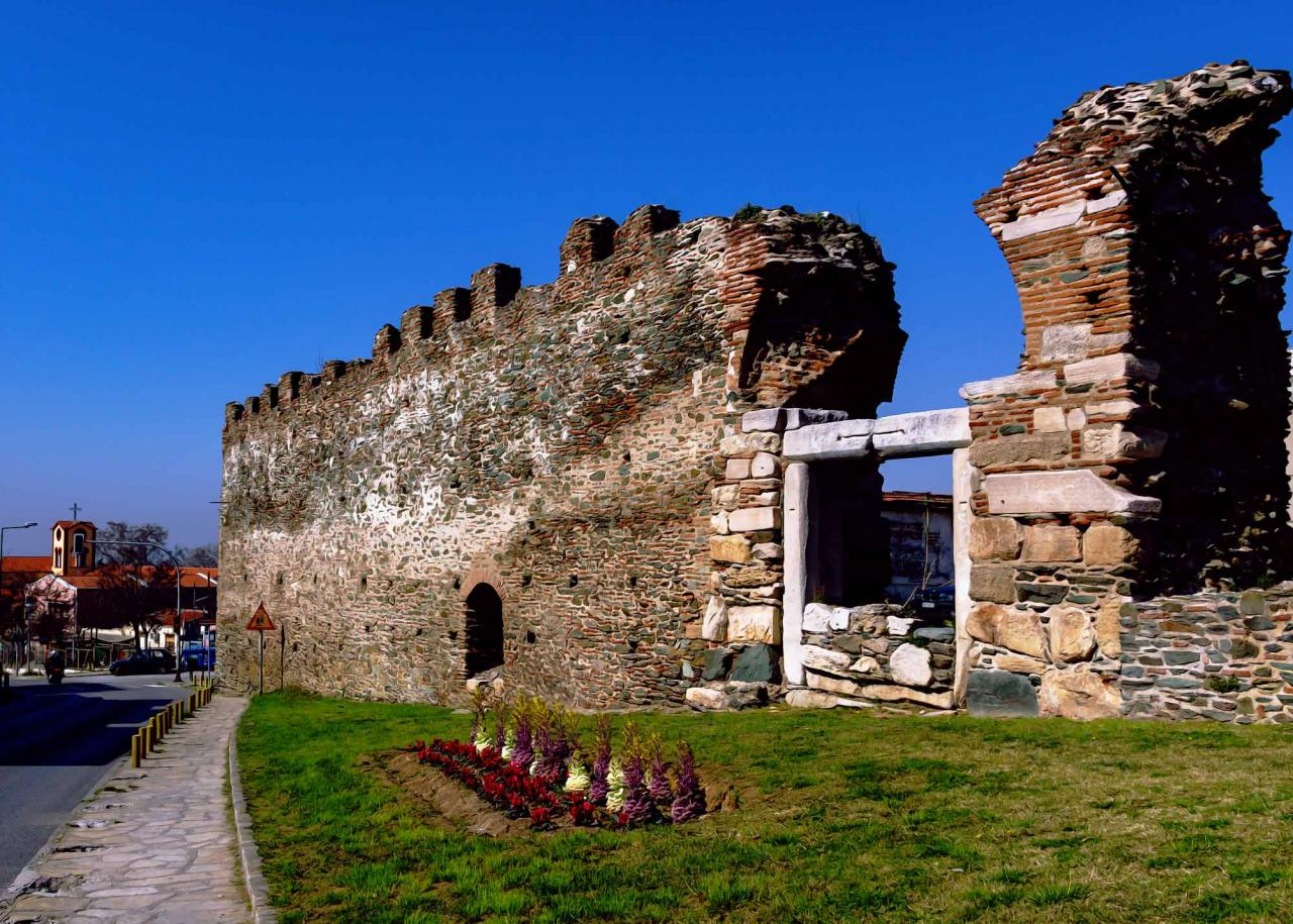 крепостные стены, достопримечательности салоники