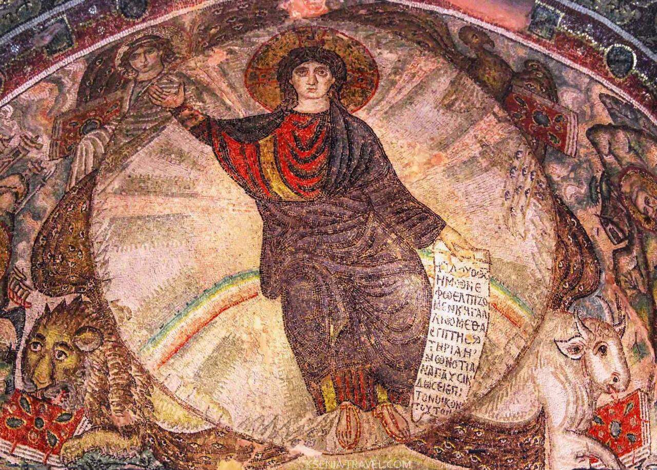 Мозаика монастыря Латому : святыни Салоники