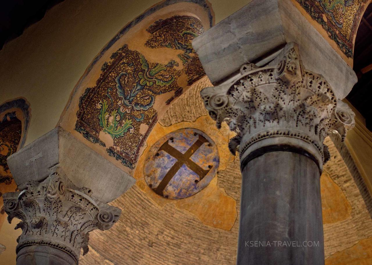 мозаика базилики Панагии Ахиропиитос, достопримечательности Салоники