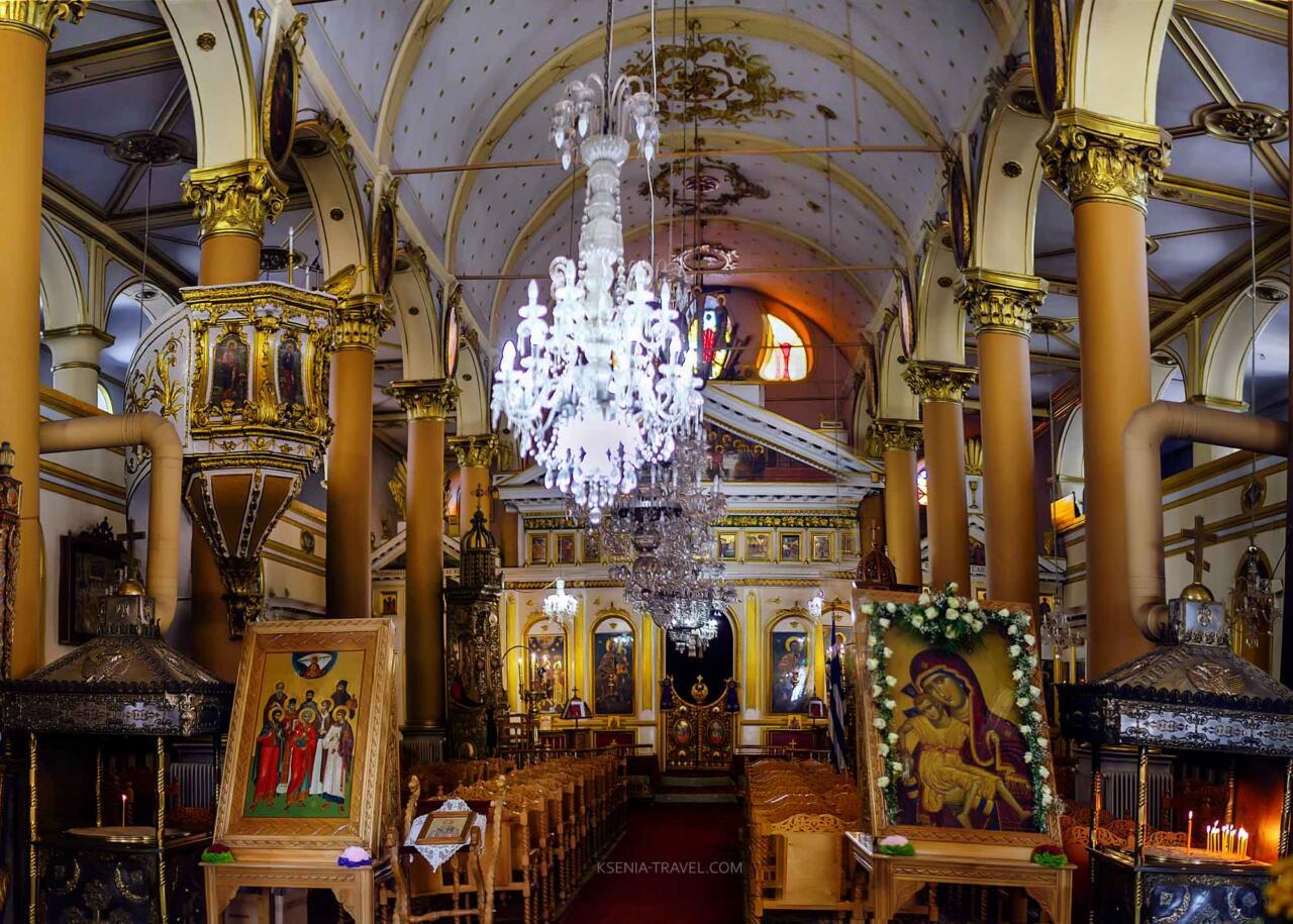 внутреннее убранство церкви Святого Мина, достопримечательности Салоники