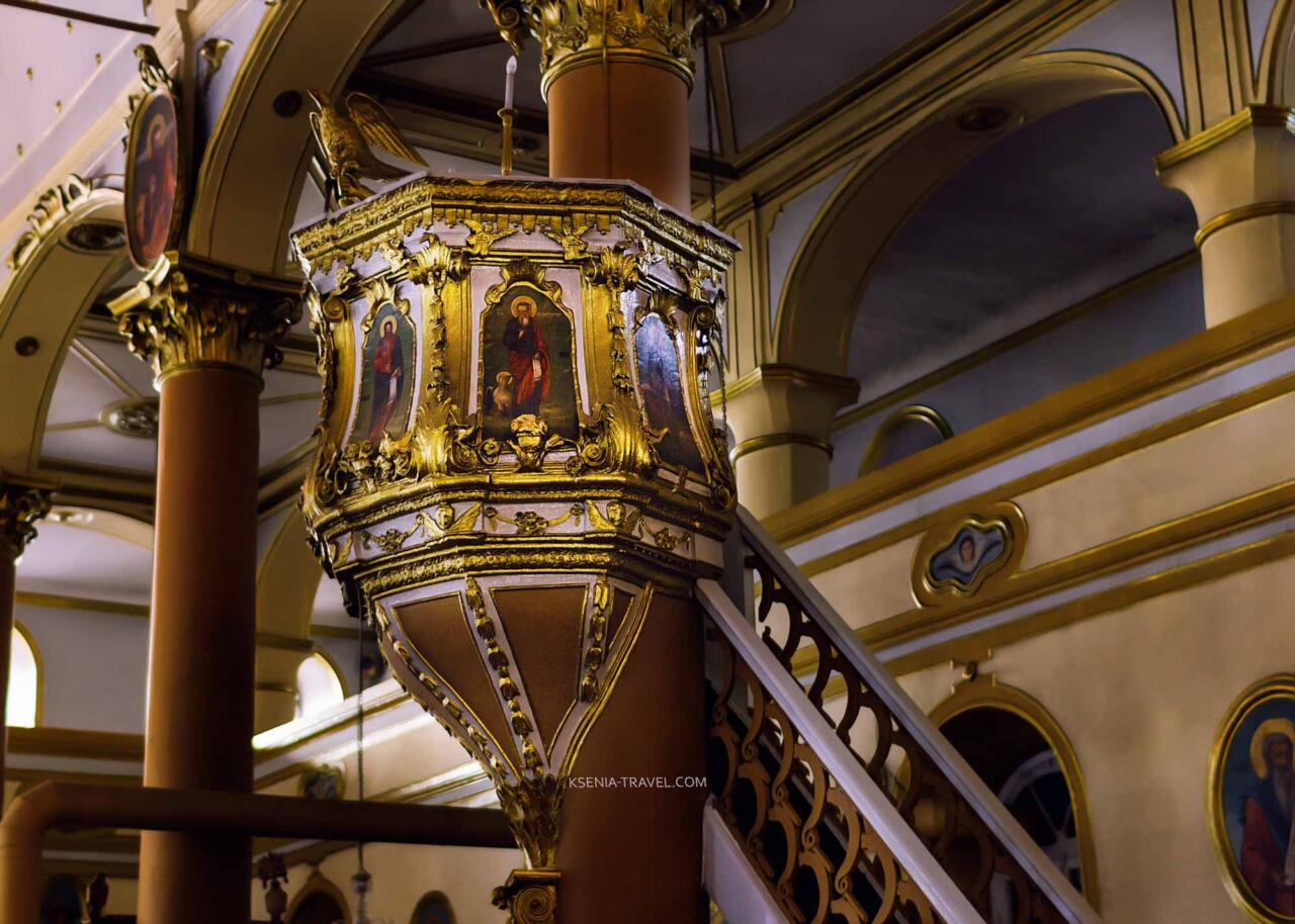 амвон в храме Святого Мина, достопримечательности Салоники