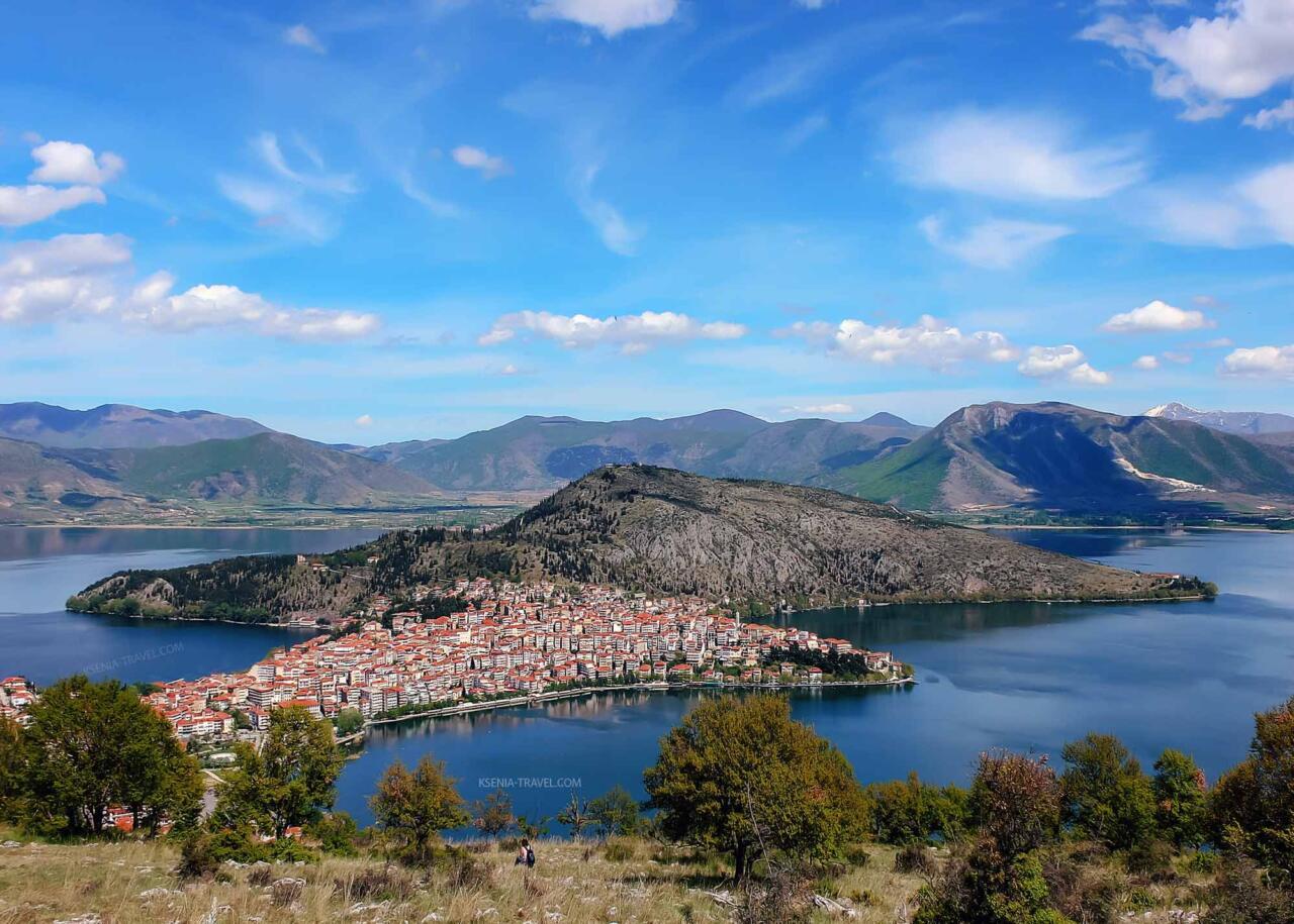 озеро Орестиада, Касторья - город в Греции