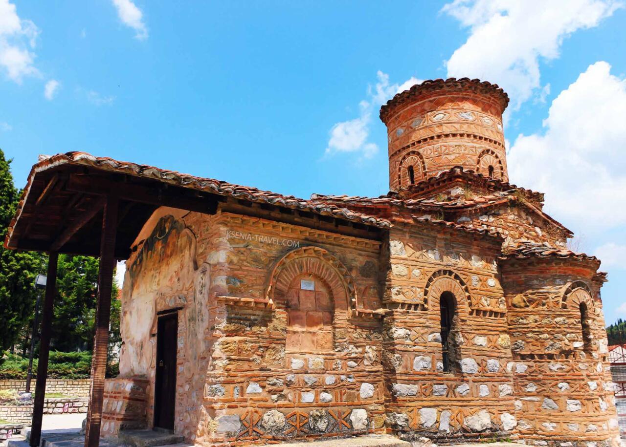 храм Панагии Кумбеликиди, город Касторья в Греции