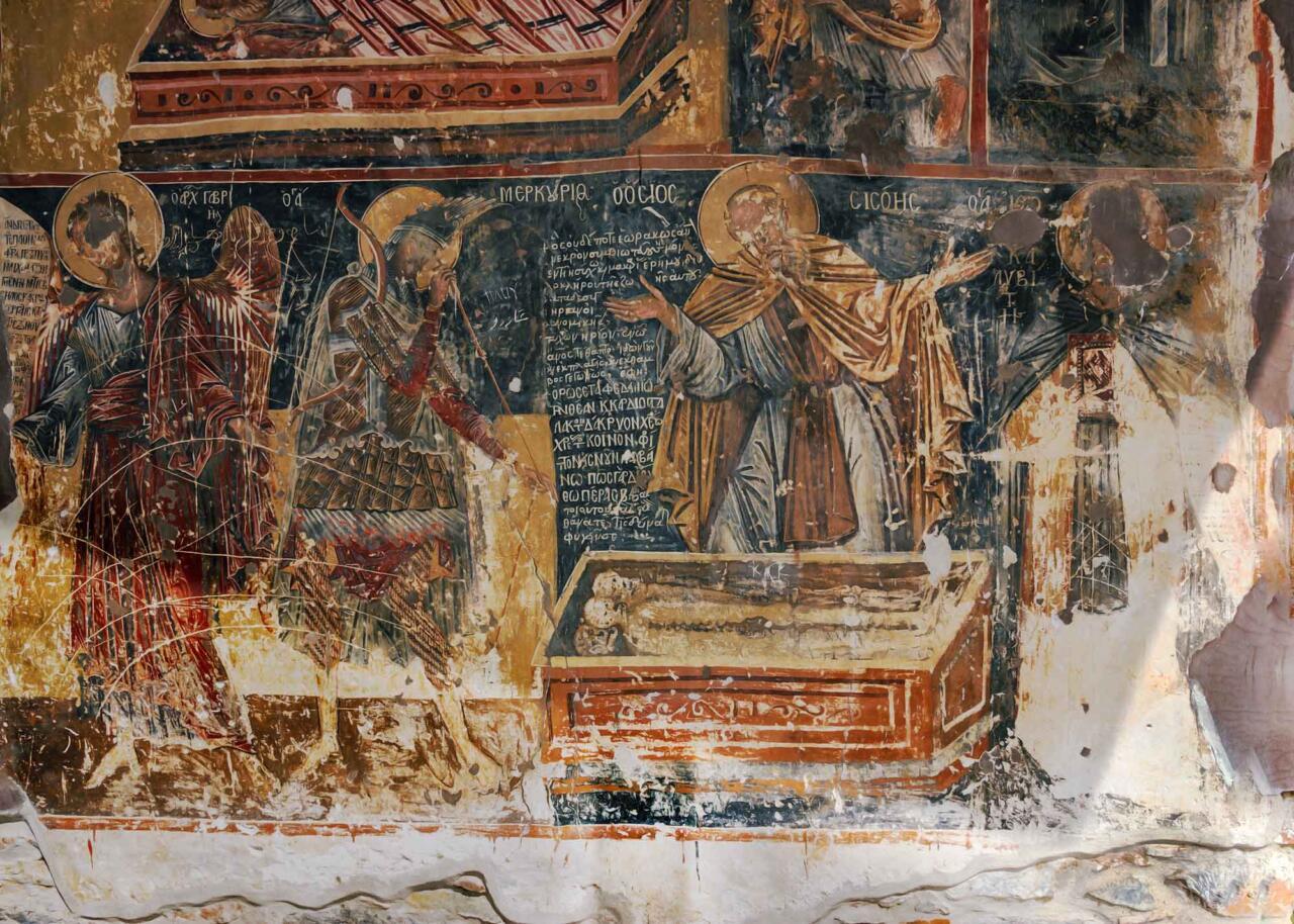 роспись монастыря Мавриотиса в городе Кастория, экскурсии по Греции