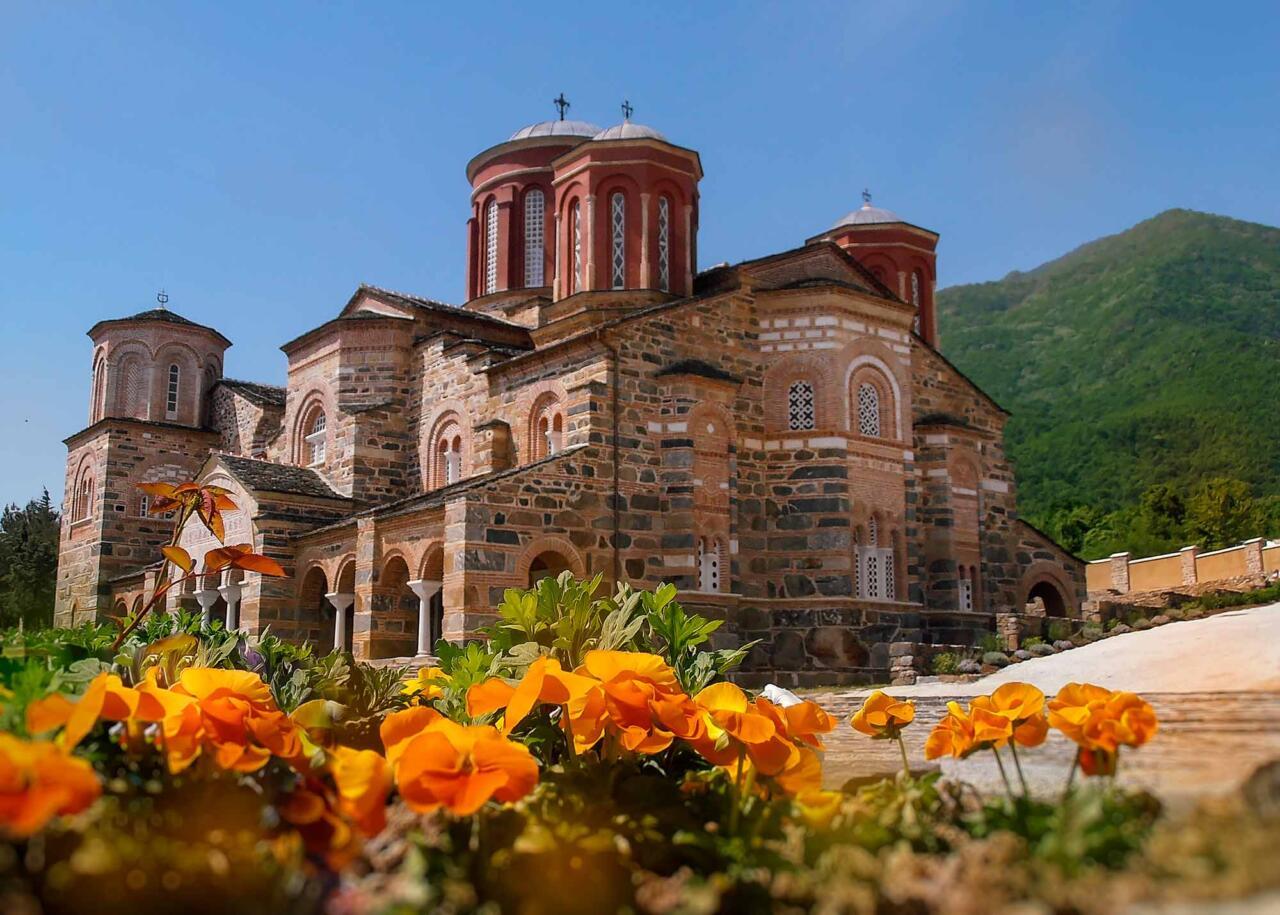 монастырь Иоанна Крестителя, озеро Керкини, Греция