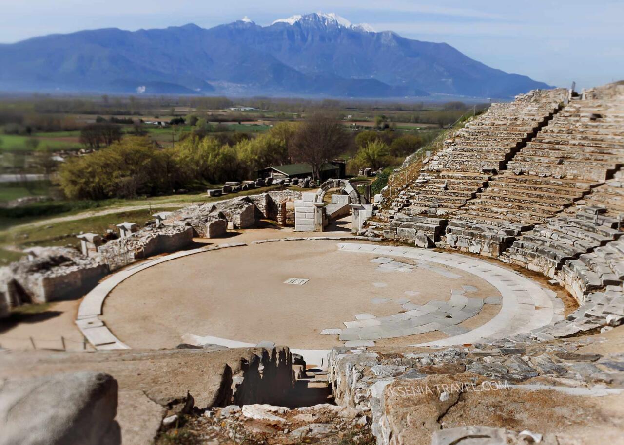 античный театр в городе Филиппы, северная Греция