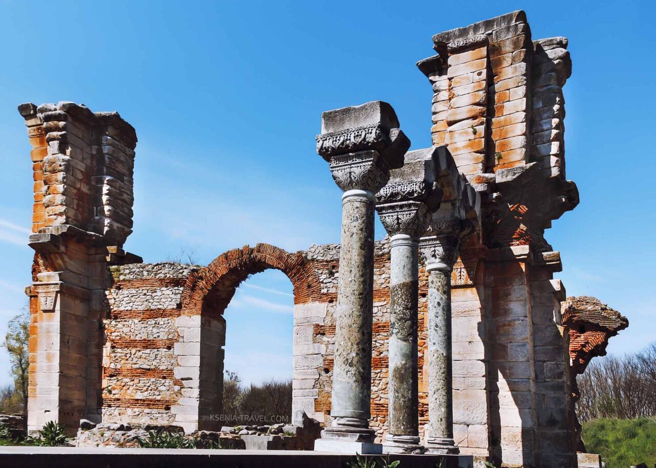 базилика города Филиппы, экскурсии в Кавалу из Салоники