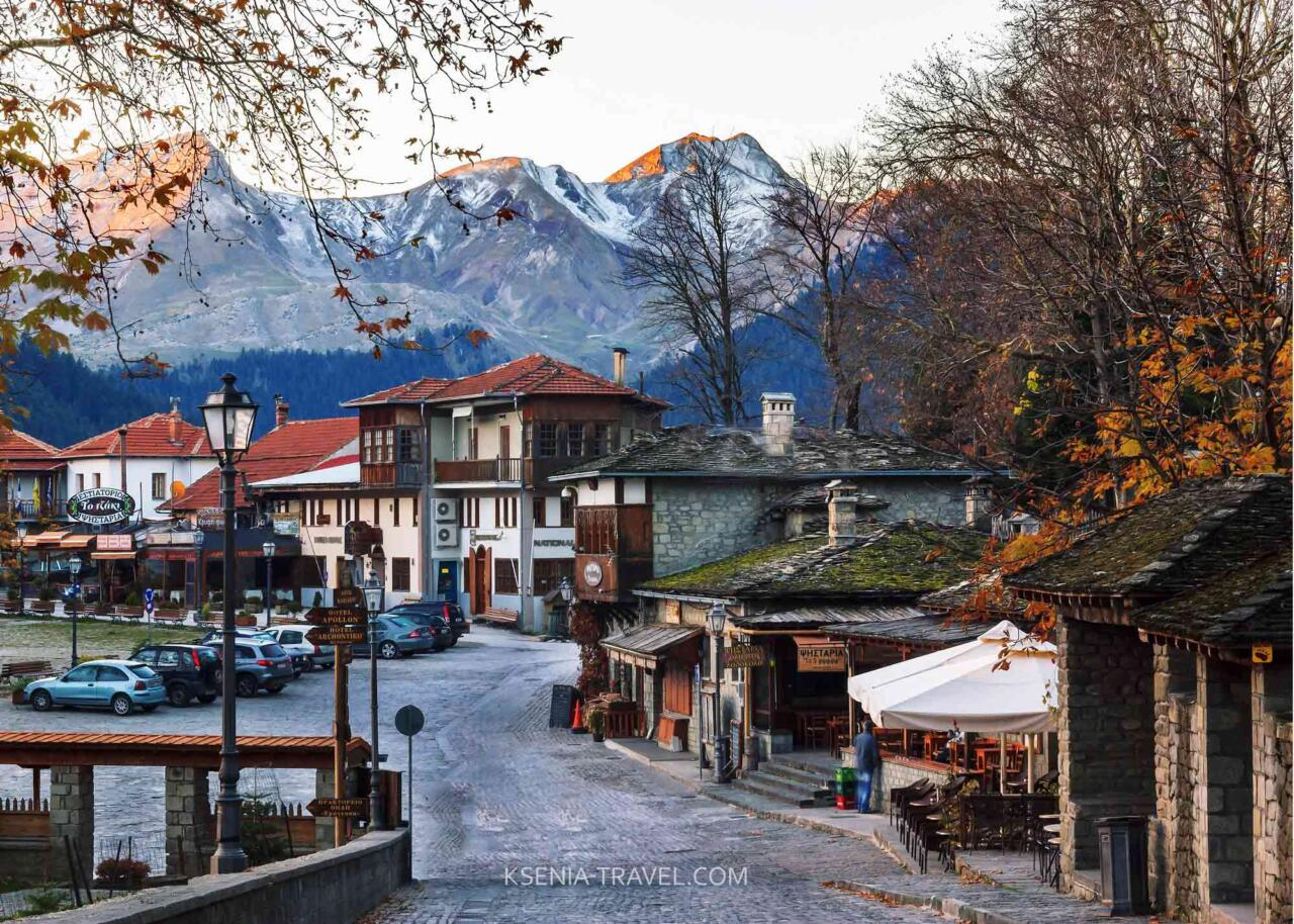 Мецово, деревни Загорохории Греции