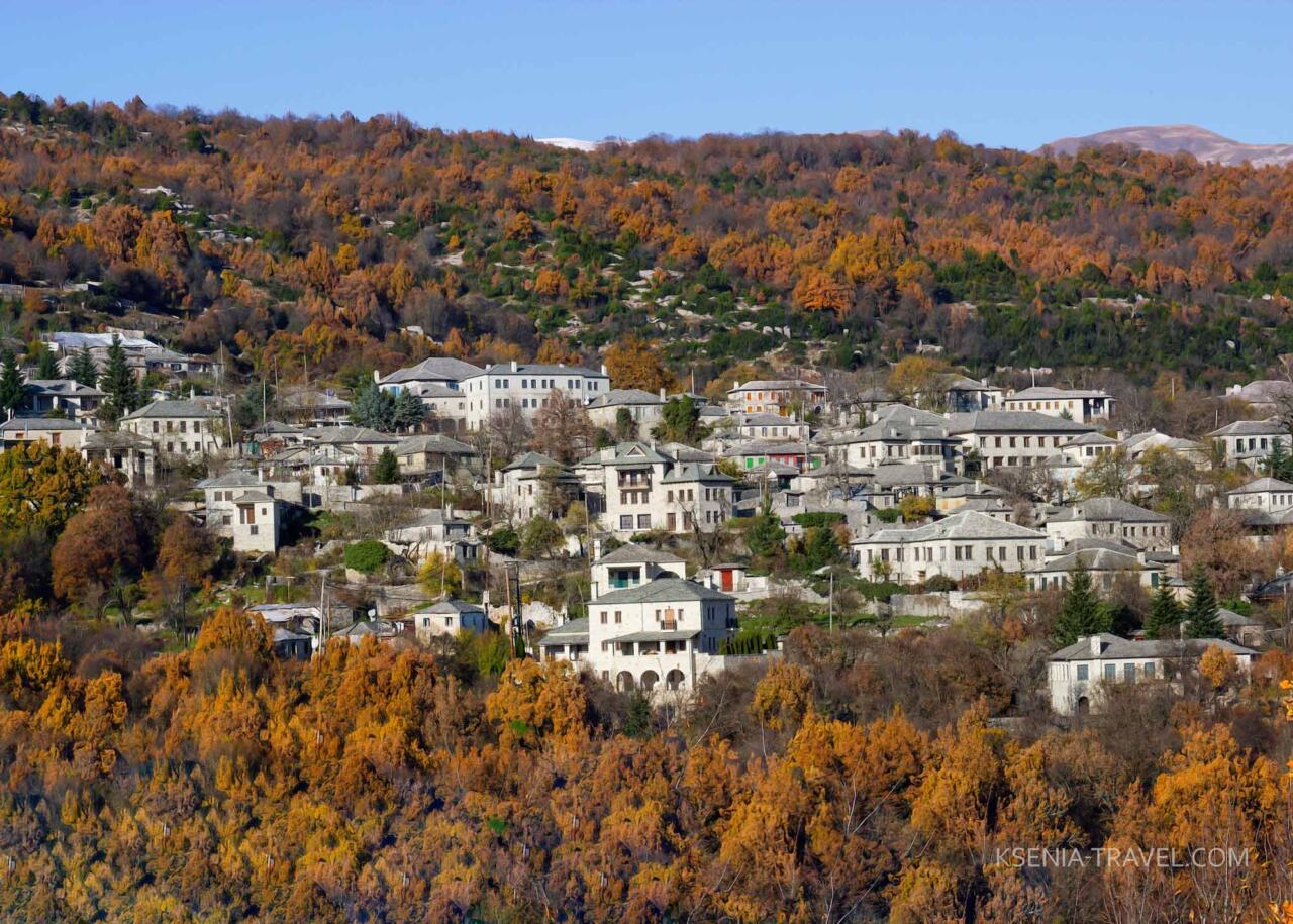 деревни Загорохории, северная Греция