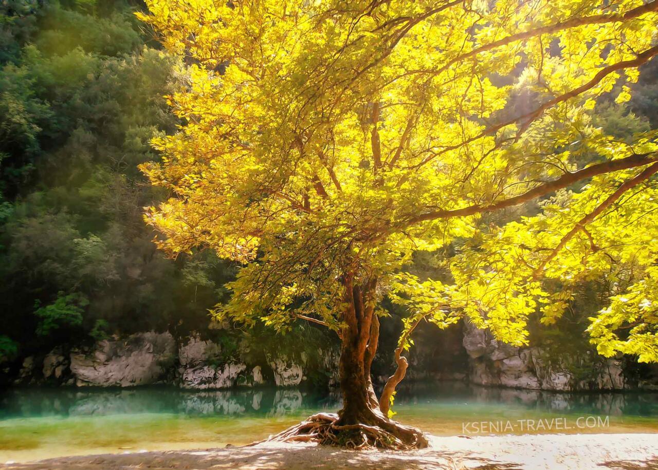 река Войдоматис, Загорохория, Греция