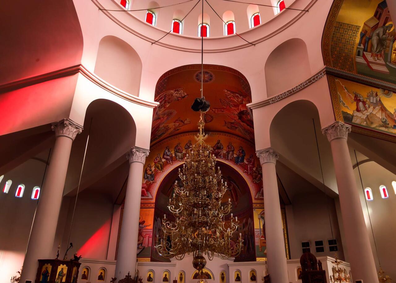 внутреннее убранство храма апостола Павла, достопримечательности Салоники