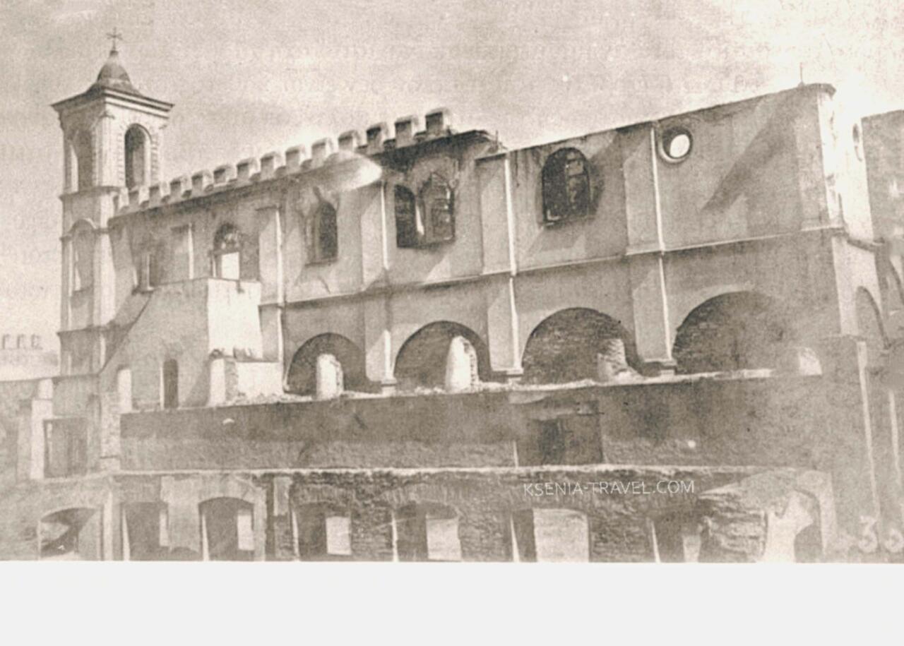 фото храма Святого Николая Трану после пожара 1917 года