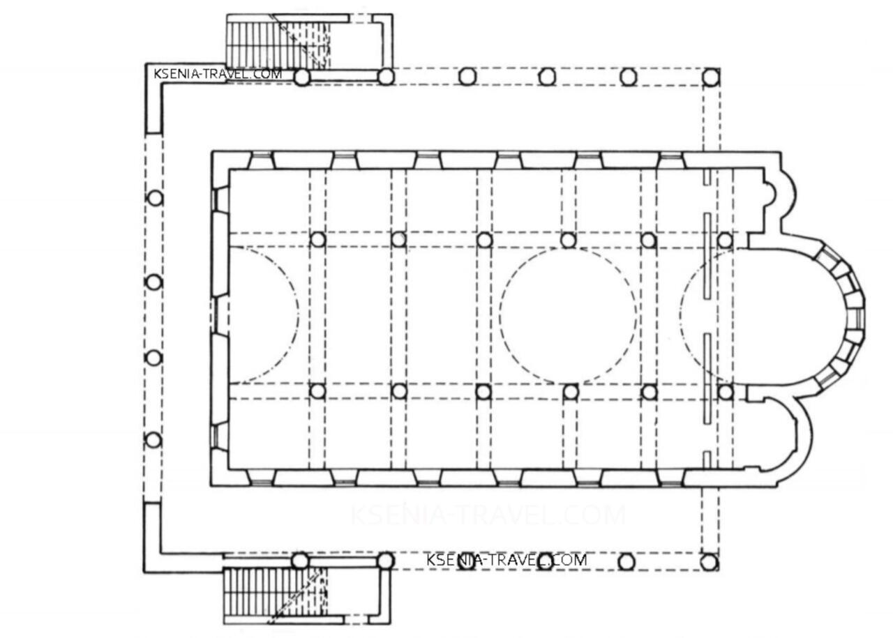 план Храма Святого Николая Трану, сгоревшего при пожаре 1917 года