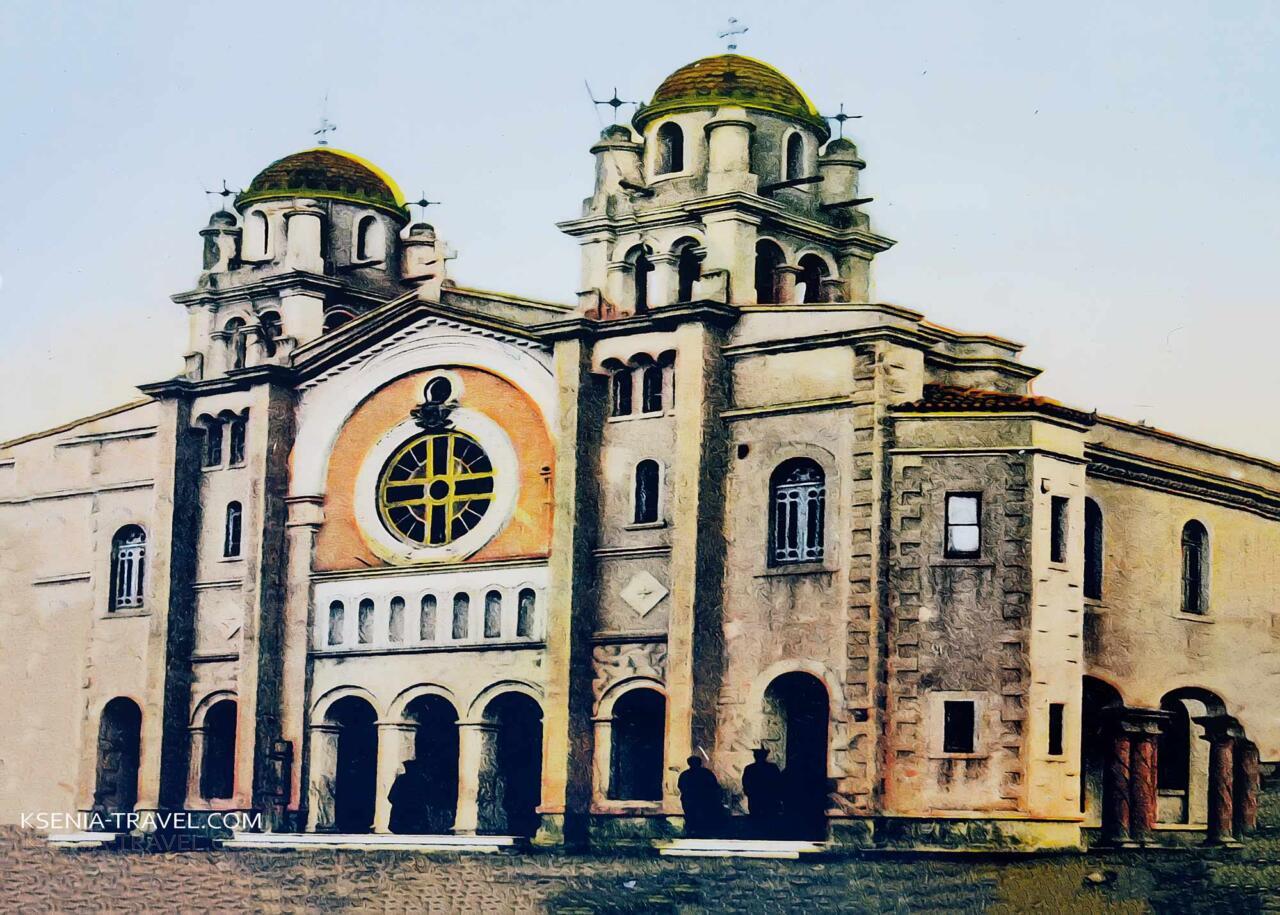Храм Святого Николая Трану до пожара 1917 года, достопримечательности Салоники