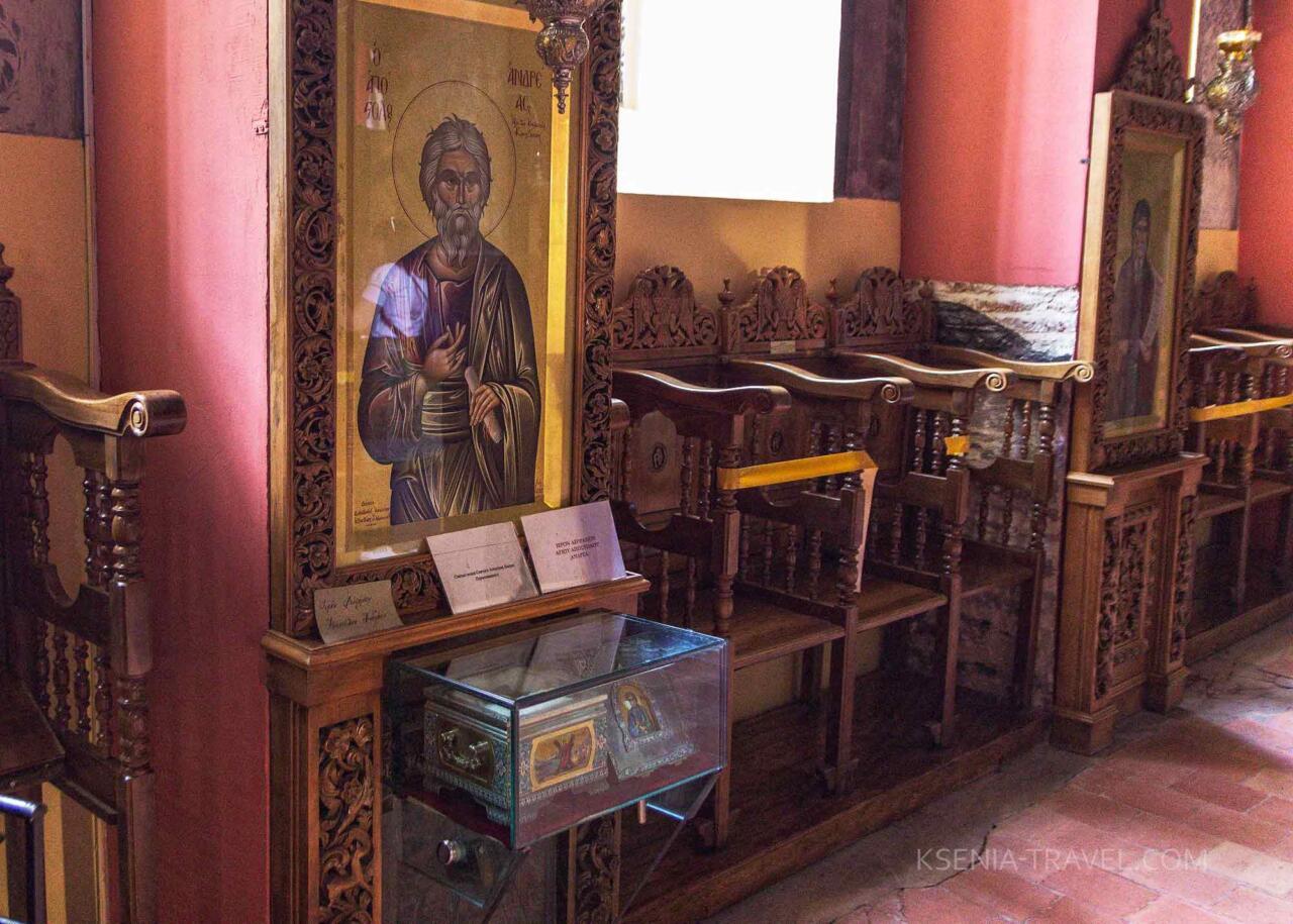 мощи Св. Андрея в монастыре Анастасии Узорешительницы