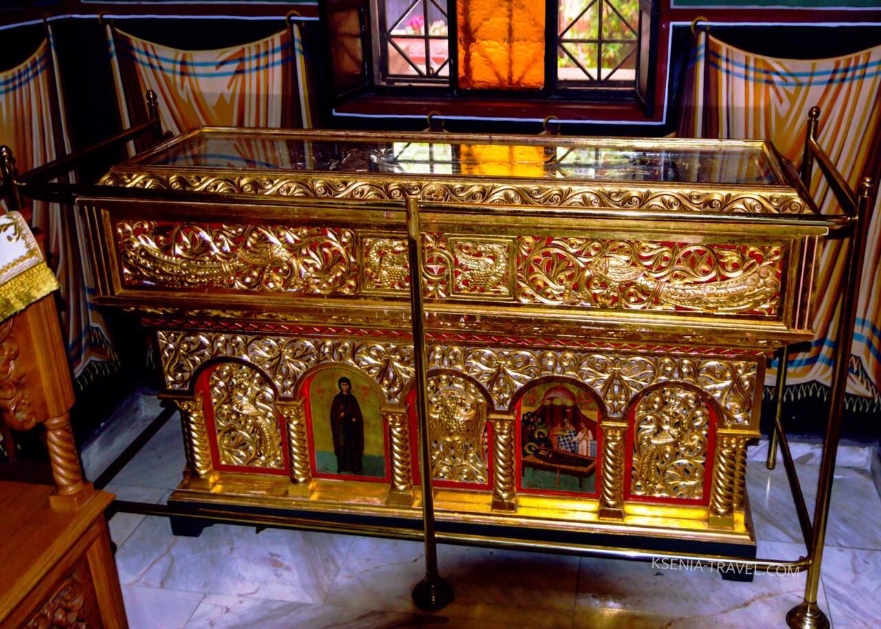 рака с мощами Святой Феодоры Солунской, Салоники