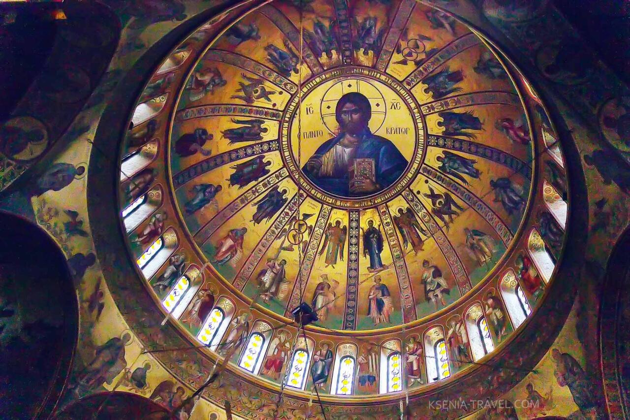 купол храма Святого Григория Палама изнутри, достопримечательности Салоников
