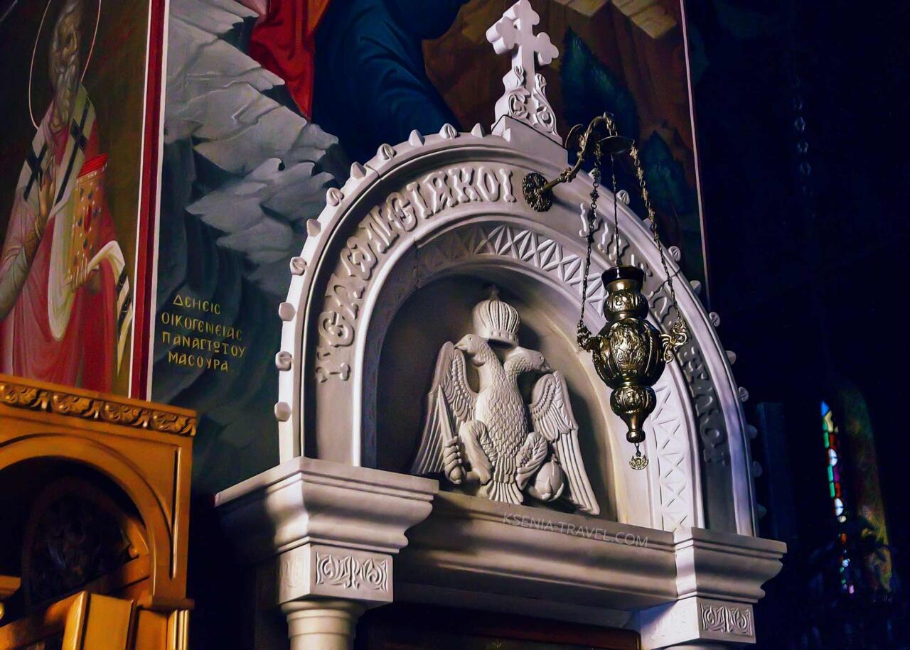 внутреннее убранство в соборе Святого Григория Паламы, достопримечательности Салоников