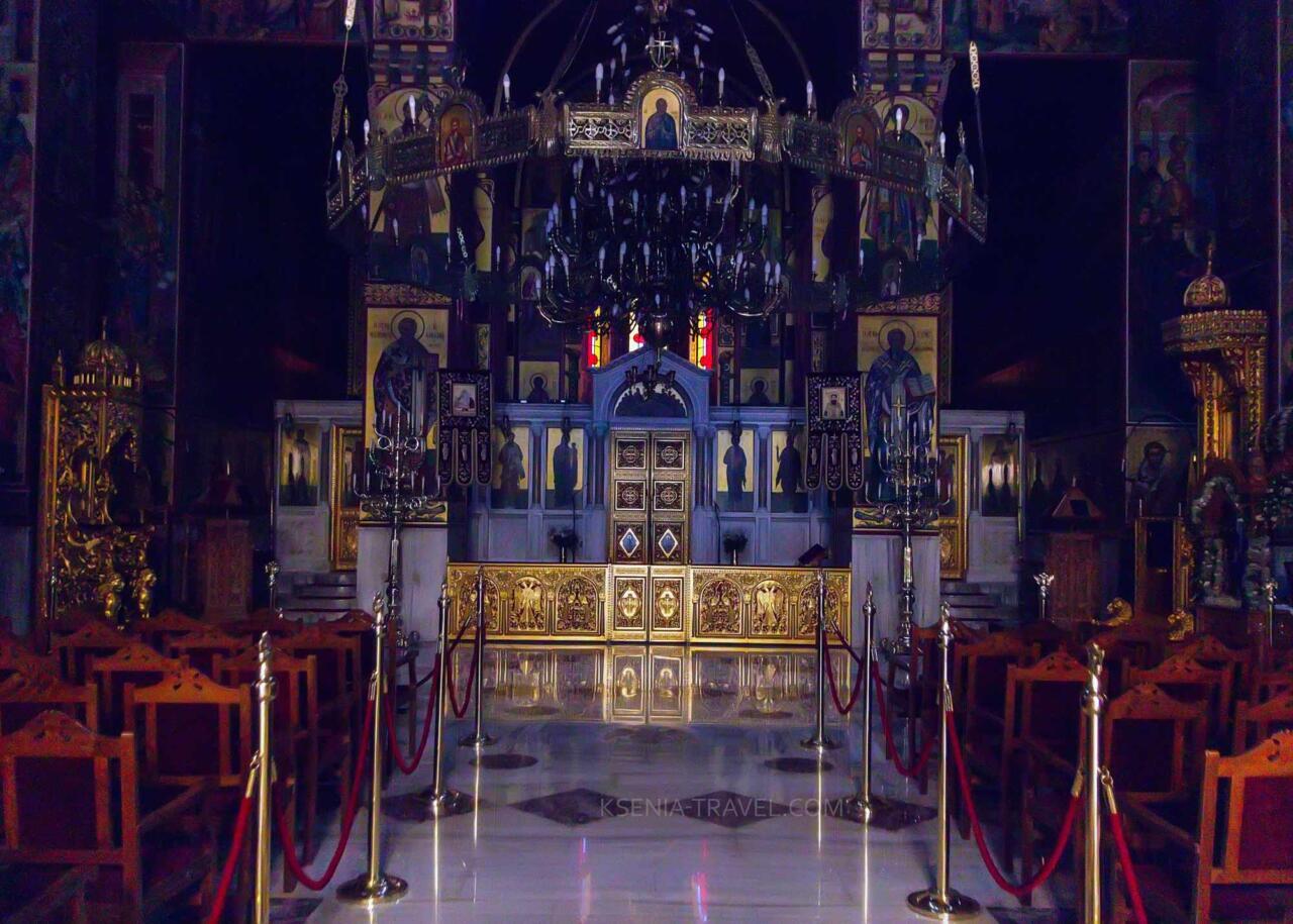 внутреннее убранство собора Святого Григория Палама, Салоники