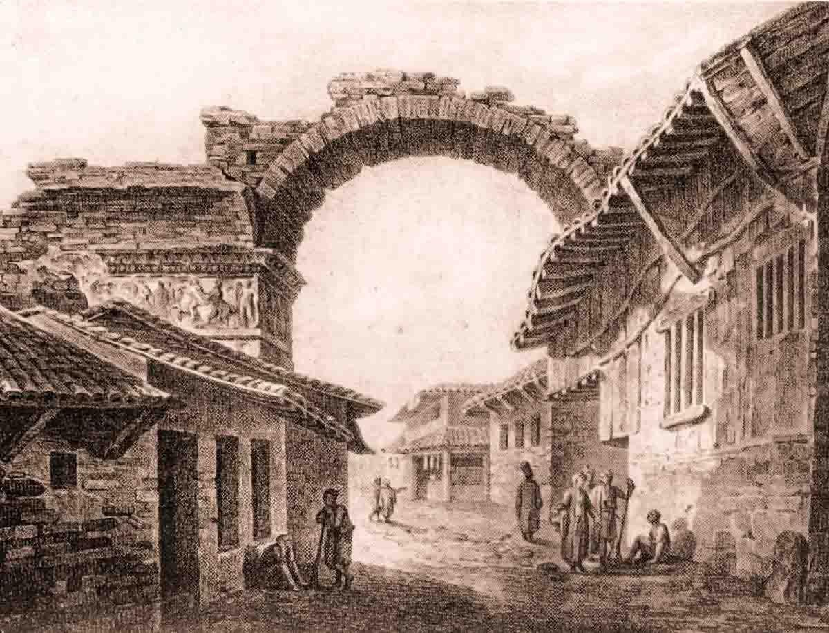 литография арки Галерия