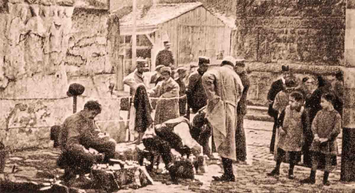 район вокруг Арки Галерия в период 1-й мировой войны