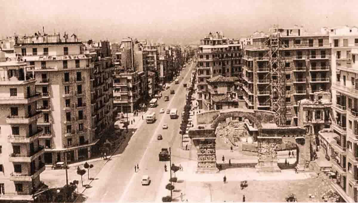 Салоники в 60-х годах во время строительного бума