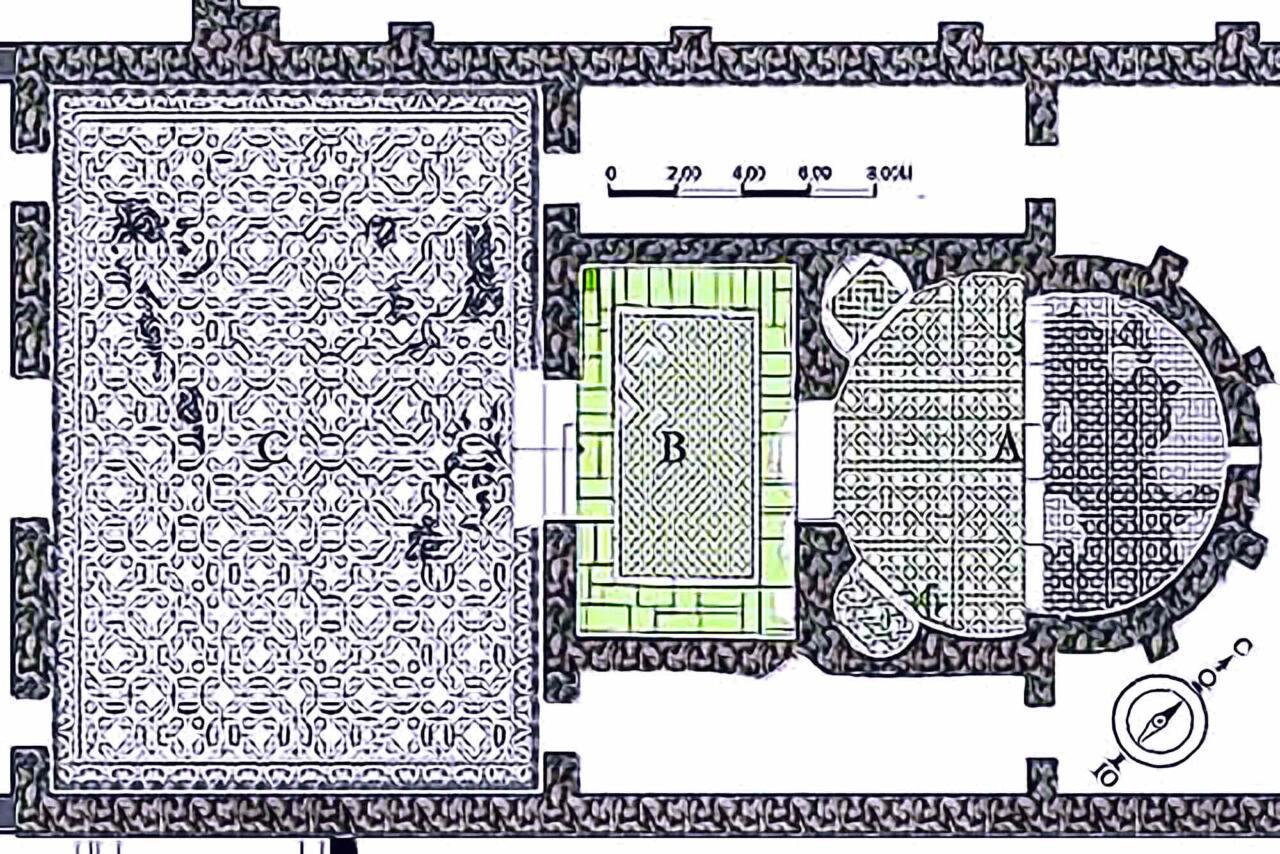 план Арочного Зала дворца Галерия в Салониках