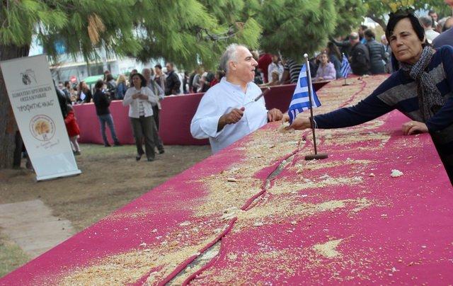 на мероприятии по выпечке самого большого бублика в Салониках